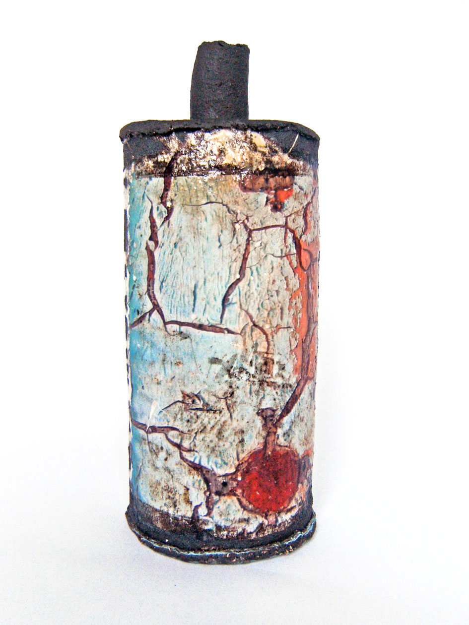 Crackled Paint Bottle 4
